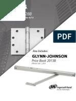 Ives/Glynn Johnson Price Book Revised 8/13