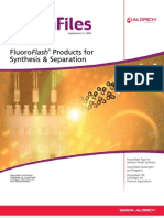 ChemFiles Vol. 8, Supplement II - FluoroFlash Products for Synthesis & Separation
