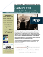 A Sisters Call Event Flier 2013