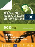 Encuentro ECO-RICE Libro de Ponencias - Arroz en Albufera Un Futuro Sostenible