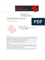 Competencias Docentes, Jose Tejada Fernandez