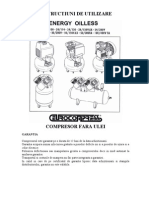 Manual de Utilizare Compresoare Fara Ulei