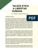 Naturaleza Etica de La Libertad Humana