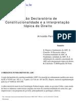 ADC e a interpretação tópica do direito