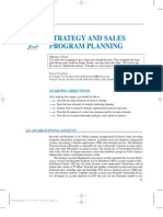 Strategy and Sales Program Plannig