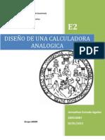 DISEÑO DE UNA CALCULADORA ANALOGICA