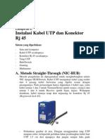 Instalasi UTP-RJ 45