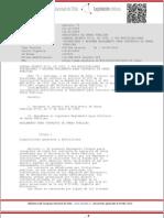 Reglamento Contratos de Obras Publicas
