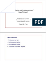 The Design and Implementation of Open WebMail