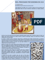 PONÇ HUG DE EMPURIES, PROCESADO POR SODOMIA EN 1313
