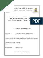 EXAMEN EDUCACIÓN INTERCULTURAL