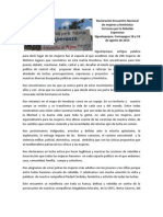 Declaración Encuentro Nacional de Mujeres y Feministas Cercanas por la Rebelde Esperanza Siguatepeque, Comayagua, 18 y 19 de agosto de 2013.