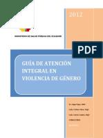 GUÍA DE ATENCIÓN INTEGRAL EN VIOLENCIA DE GÉNERO