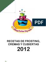 Cubiertas, Frosting y Cremas