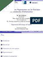 (Slides) Impact des Liens Hypertextes sur la Précision en Recherche d'Information