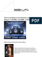 Monitores de home estudio Pioneer- S-DJ50X, S-DJ60X, S-DJ80X