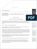 National Defense Resources Preparedness Obama Executive Order