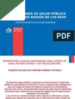Legislacion Agua de Consumo Humano Servicio Salud Los Rios