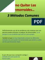 Como Quitar Las Hemorroides - 3 Métodos Comunes