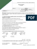 Examen Ordinario Mat I-2012