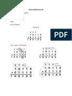 Suma Binarios Octal Hexadecimal