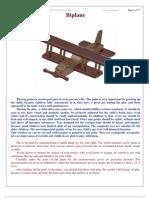 Biplane Kids Toy - Free woodworking plan