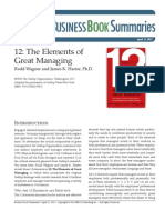 Elements of Great Managing