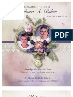 8.5 x 7 Bi-fold Funeral Program