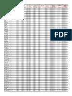 Tabela - Divisão das LEIS e DECRETOS