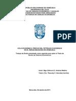 Ciclo Economico, Precios Del Petroleo e Incidencia en El Riesgo Bancario en Venezuela