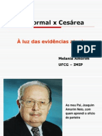 Parto Normal x Cesárea