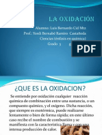 La oxidación