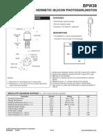 BPW38 Data Sheets