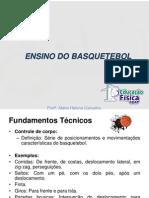 ENSINO DO BASQUETEBOL - fundamento técnico