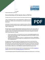 Trust Act Press Release
