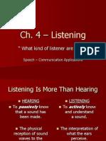 ch  4 - listening