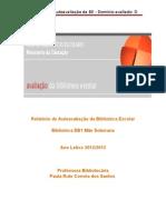 Relatorio bibllioteca da EB1 Mãe Soberana