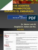 agentes antitrombóticos en emb_ cedip