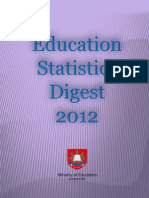 Education statistics, Singapore 2012