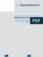 Programa Especializacion en Mediacion Empresarial