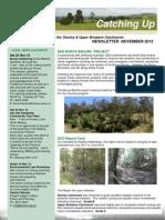 SEQ Catchments catching Up Newsletter Stanley Upper Brisbane November 2012