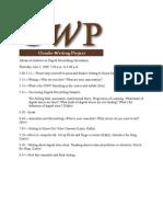Advanced Institute Orientation Agenda & Reminders 2009