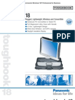 Panasonic Toughbook CF 18specs
