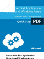 Create Your First Application - Node.js and Windows Azure