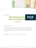 Google Ranking Factor Study 2013
