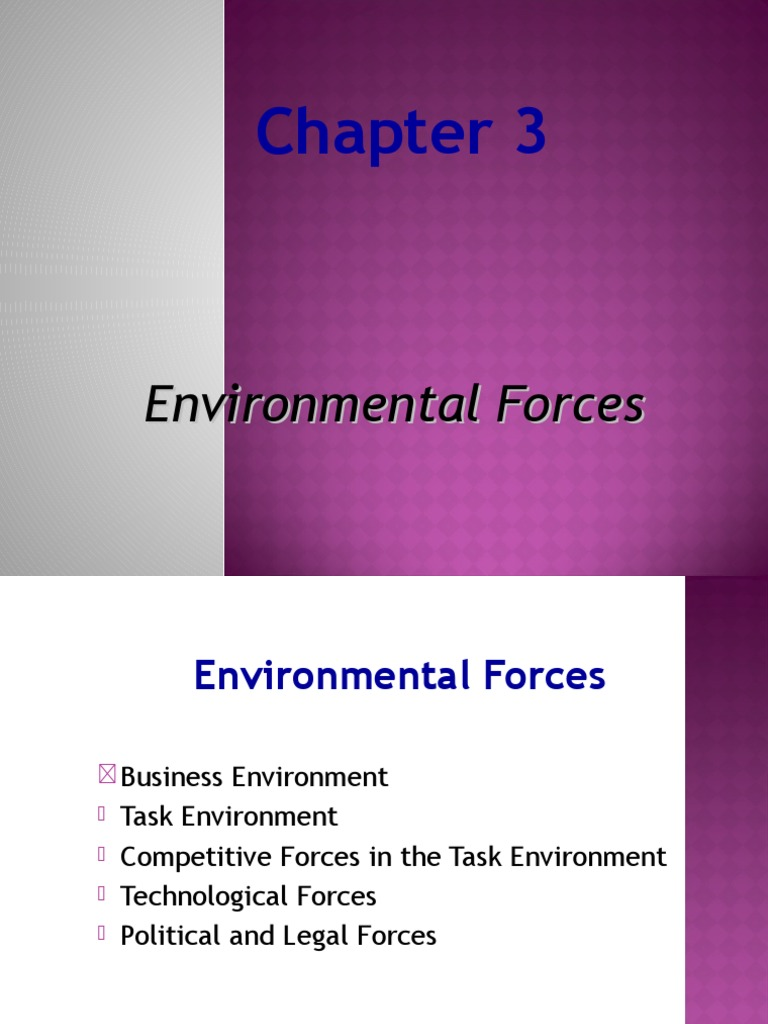 task environment forces