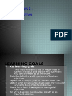 Business Objectives Outcome