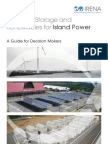 Electricity Storage and RE for Island Power