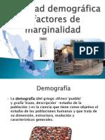 Densidad demográfica y factores de marginalidad