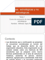 Decisiones  estratégicas y no estratégicas